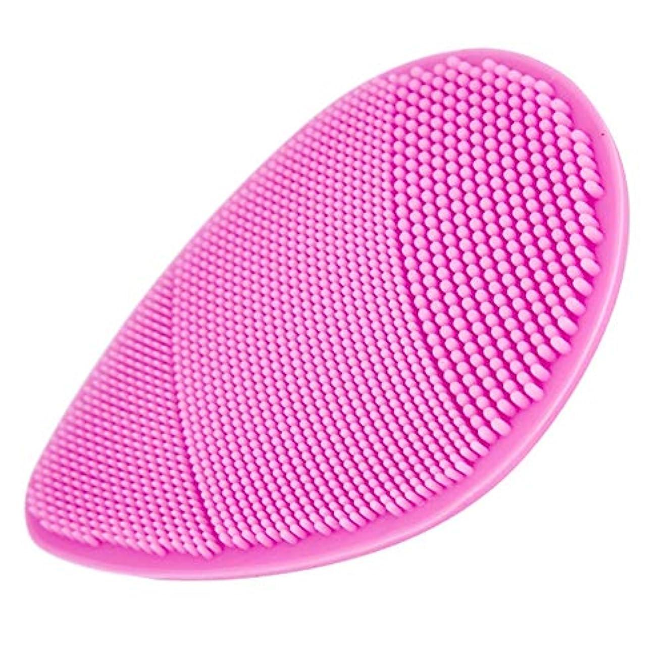 手動シリコーンフェイスクリーニングブラシ、ソフトブラシフェイスウォッシュ、黒ずみを減らすための毛穴クレンジング剥離