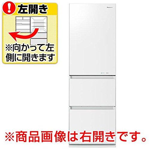 パナソニック365L3ドア冷蔵庫(スノーホワイト)【左開き】PanasonicエコナビNR-C37FGML-W