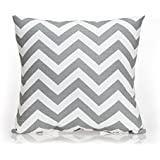 Sweet Potato Swizzle Chevron Pillow, Pink /Grey/White by Sweet Potatoes [並行輸入品]