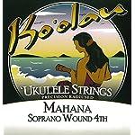 【KO'OLAU STRINGS】 MAHANA SOPRANO WOUND 4TH ソプラノ用 ウクレレ弦 セット(クリアナイロン 4弦のみ巻弦 Low-G)