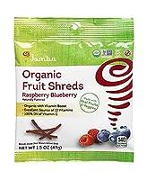 Jamba Organic オーガニック Fruit Shreds | Gluten Free Healthy Snacks (12 pack 1.5 oz pouches) (Raspberry Blueberry)