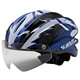 GVR G-203V サイクルヘルメット JCF推奨 08 ジャンプ/ブルー 54-60cm クリアシールド付 G-203V