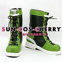 【サイズ選択可】コスプレ靴 ブーツ K-1688 ザ・キング・オブ・ファイターズ KOF'96 レオナ・ハイデルン Leona Heidern 女性23.5CM