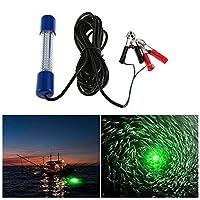 LIXADA 水中集魚灯 180 LED水中ライト 夜釣り 水中LEDランプ イカ魚 フィッシュファインダー