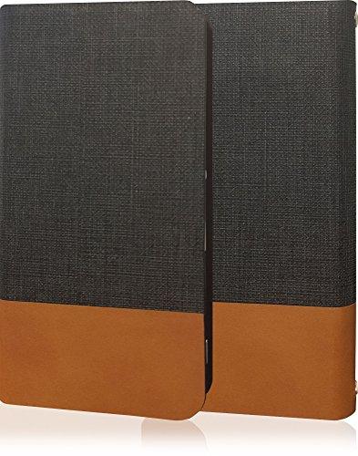 GALAXY S4 SC-04E ギャラクシー ギャラクシーS4 SC04E 牛革 本革 高級 PU レザー ケース 手帳型 薄型 手帳 カバー 手帳型ケース スマホケース フリップケース フリップ ダークグレー ブラウン ツートン バイカラー ツートンカラー SC04E-10000139-10001-1001