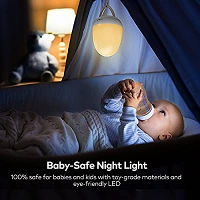 Night Lights for Kids, VAVA Baby Night Light, Bedside Lamp for Breastfeeding, ABS+PP, Touch Control, Timer Setting