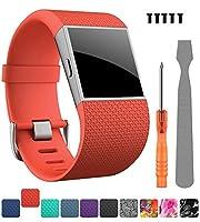 For Fitbit Surgeバンド、creategreat交換用バンドストラップFitbit Surge腕時計Fitness Tracker元手首バンドアクセサリースモール&ラージ S
