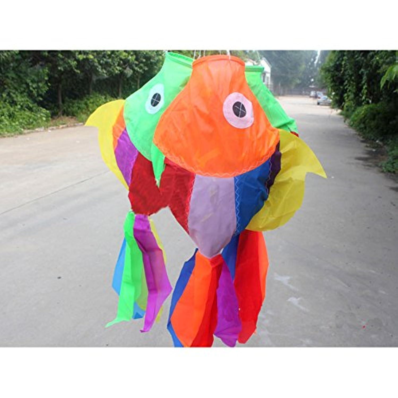 Gobig カイト用ウィンドソック 飾り 凧部品 ペンダント 骨なし 凧揚げ カラフル おしゃれ