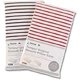 テンピュール(R) 枕カバー スムースボーダー カラー:白*紺 タイプ:オリジナル/ミレニアム用
