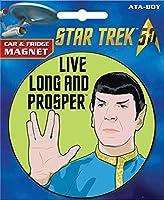 ata-boy Star TrekダイカットLive Long And Prosper車用マグネット冷蔵庫、、、ロッカー