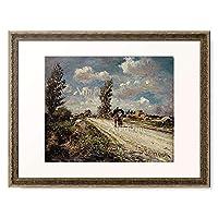 Garrido, Eduardo Leon,1856-1906 「Sommerliche Landstrasse.」 額装アート作品