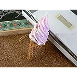 食品サンプル屋 食品サンプル 携帯ストラップソフトクリーム ブルーベリー02P03Dec16