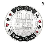 (トラベリング ライト) Traveling Light ノートルダム 記念コイン コレクション 記念 ビジネスギフト 友達へのプレゼント ((B)銀色)