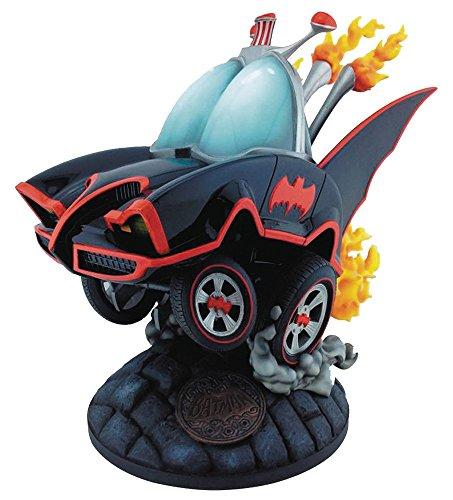 スタチュー バットマン1966年TVシリーズ 「ホットロッド・カスタム」バットモービル(通常版) 高さ約22センチ レジン製 塗装済み完成品フィギュア