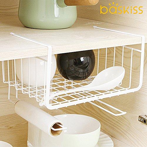 Baskiss キッチン吊り戸棚下多機能ラックタワー 吊戸棚...