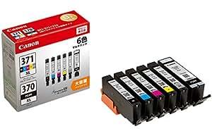 Canon 純正インクカートリッジ BCI-371XL(BK/C/M/Y/GY)+370XL 6色マルチパック 大容量タイプ BCI-371XL+370XL/6MP