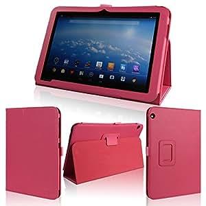 wisers 保護フィルム・タッチペン付 東芝 Toshiba Android (TM) タブレット A204YB Yahoo! BB 専用モデル 専用 ケース カバー ピンク