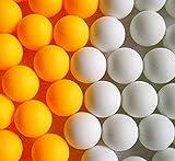 卓球 ピンポン玉 オレンジ・ホワイトボール 50・100・150個選べる。 国際標準 40mm 練習 トレーニング用 パーティー イベント用 としても