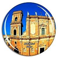 Weekino イタリアブリンディジ大聖堂冷蔵庫マグネット3Dクリスタルガラス観光都市旅行お土産コレクションギフト強い冷蔵庫ステッカー