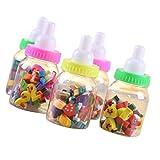 ノーブランド品 2ボトル 子供 文房具 50pcs /  哺乳瓶 フルーツ 可愛い ゴム 消しゴム 鉛筆の消しゴム ギフト
