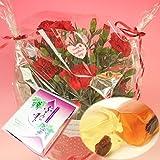 【母の日】桔梗屋のワインゼリー「ぶどうの雫」とカーネーション5号鉢のセット