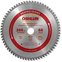 Oshlun SBFT-260068A 260mm 68 Tooth FesPro Non Ferrous TCG Saw Blade with 30mm Arbor for Festool Kapex KS 120 [並行輸入品]