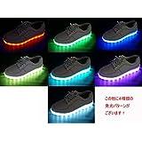 [サンダイ] ナイト ラン メンズ レディース キッズ LED スニーカー 19.5cm ~ 29cm 7色+4パターン発光 11通り USB 充電式
