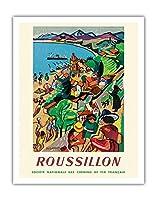 イタリア - すべてのスポーツにもっとも美しい国 - ビンテージな世界旅行のポスター によって作成された アドルフ・ムーロン・カッサンドル c.1935 - キャンバスアート - 28cm x 36cm キャンバスアート(ロール)