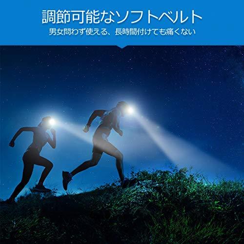 Litom LED ヘッドランプ ヘッドライト スポットライト 明るさ100ルーメン 実用点灯8時間 防水仕様 6つの点灯モード キャンプ サイクリング ハイキングなどのアウトドア活動に適用