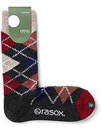 (ラソックス) rasox アーガイルウール クルー ソックス 日本製 CA172CR02