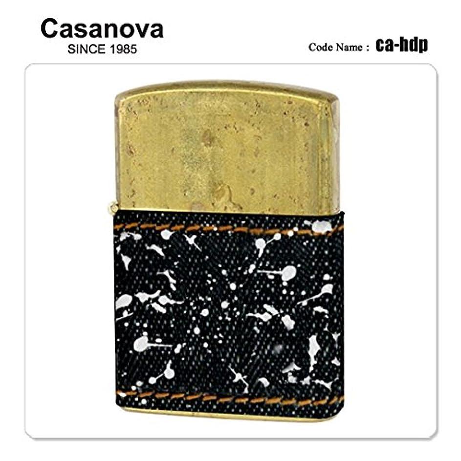 お誕生日不正確該当するCasanova カサノバ CA-HDP ハーフデニム ペイント オイルライター デニム