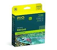 Rioフライ釣りフライラインゴールドwf5F Enviro釣りライン5pk、モス/ゴールド