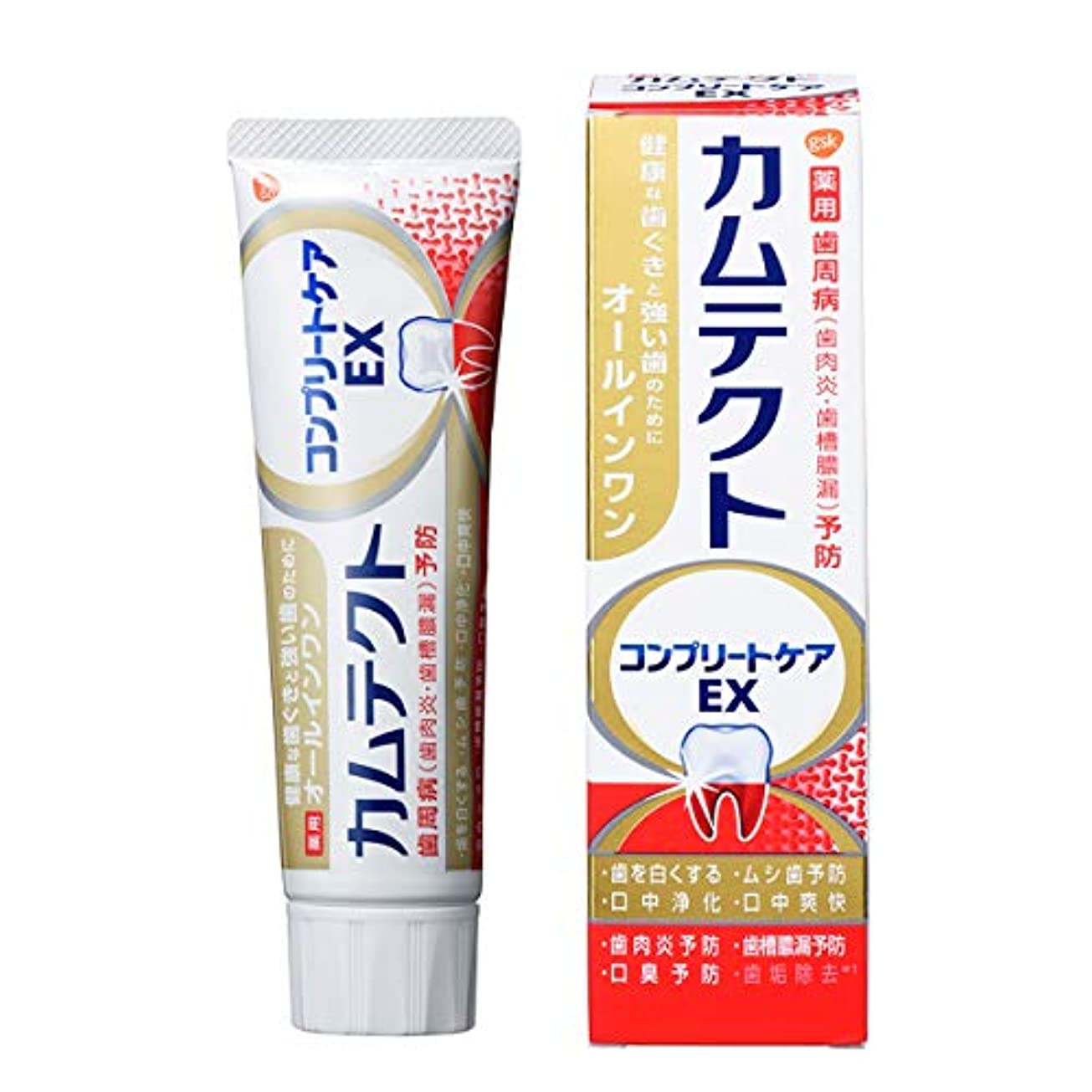 から仲介者ポンプカムテクト コンプリートケアEX 歯周病(歯肉炎?歯槽膿漏) 予防 歯磨き粉 105g