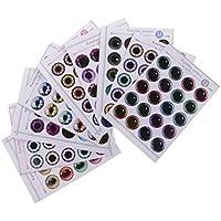 Perfk 12インチブライス人形対応 紙製 ドール 目  チップ  パターン  UV接着剤なし 人形DIY 作成 修理 アクセサリー  全2種類選ぶ - 02