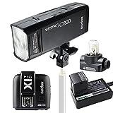 Godox AD200 ポケット TTL スピードライト フラッシュ ポータブル 付き GN52 GN60 1/8000s HSS 2.4Gワイヤレス Xシステム 200W強力パワー + X1T-C TTLワイヤレスフラッシュトリガーキャノン用送信機 Canon EOSカメラ用
