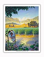 マデラ・ヴィンヤード・ワイン・トレイル - カリフォルニアワインカントリーアート によって作成された カーン・エリクソン - アートポスター - 28cm x 36cm