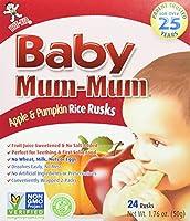 Hot Kid, Baby Mum-Mum, Selected Superior Rice Rusks, Apple, 24 Rusks, 1.76 oz (50 g)