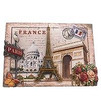 エッフェル塔パリフランスの冷蔵庫のマグネット3D樹脂手作りの工芸品観光旅行都市のお土産コレクションレター冷蔵庫ステッカー