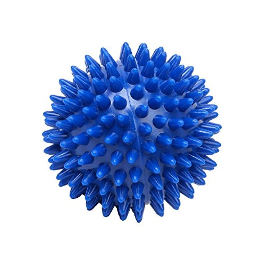 牧師発行推進Footful マッサージボール 健康グッズ 健康器具 血液循環促進 緊張緩和 7cm ブルー