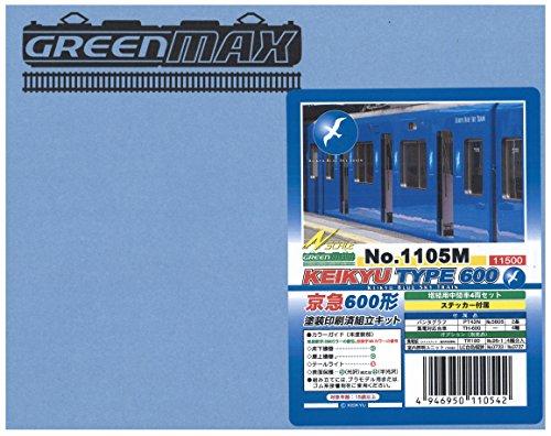Nゲージ 1105M 京急600形ブルースカイトレイン増結中間4輛 (塗装済車両キット)