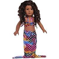 HuaQingPiJu-JP 18インチアメリカ人形の人魚の服