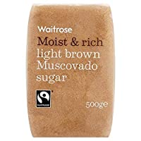 淡褐色マスコバド糖500グラム (Waitrose) - Light Brown Muscovado Sugar Waitrose 500g
