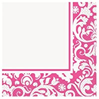Pink Damask Party Napkins, 16ct by Unique
