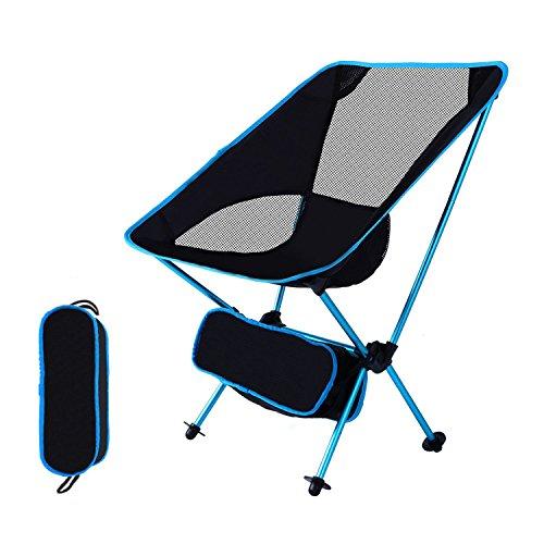 TEYO アウトドアチェア 折りたたみチェア 折りたたみ椅子 運動会椅子 キャンプ椅子 航空アルミ製 コンパクト 軽量 簡単に組み立て キャンプ 登山 釣りアウトドア用品 耐荷重100kg (青い)