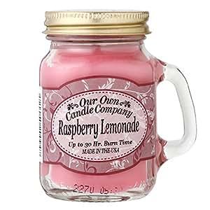 Our Own Candle Company メイソンジャーキャンドル ミニサイズ ラズベリーレモネード OU200096: ビューティー
