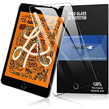 iPad mini 5 フィルム 【2枚パック】 TopACE 硬度9H 超薄0.3mm 2.5D 耐衝撃 撥油性 超耐久 耐指紋 日本旭硝子素材採用 飛散防止処理保護フィルム iPad mini 5 2019 対応