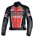 シンプソン(SIMPSON) バイク用ジャケット PU Leather Jacket(レザージャケット) レッド 3L SJ-8113