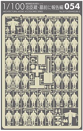 テラダモケイ 1/100建築模型用添景セット 忠臣蔵・墓前に報告編(グレー)