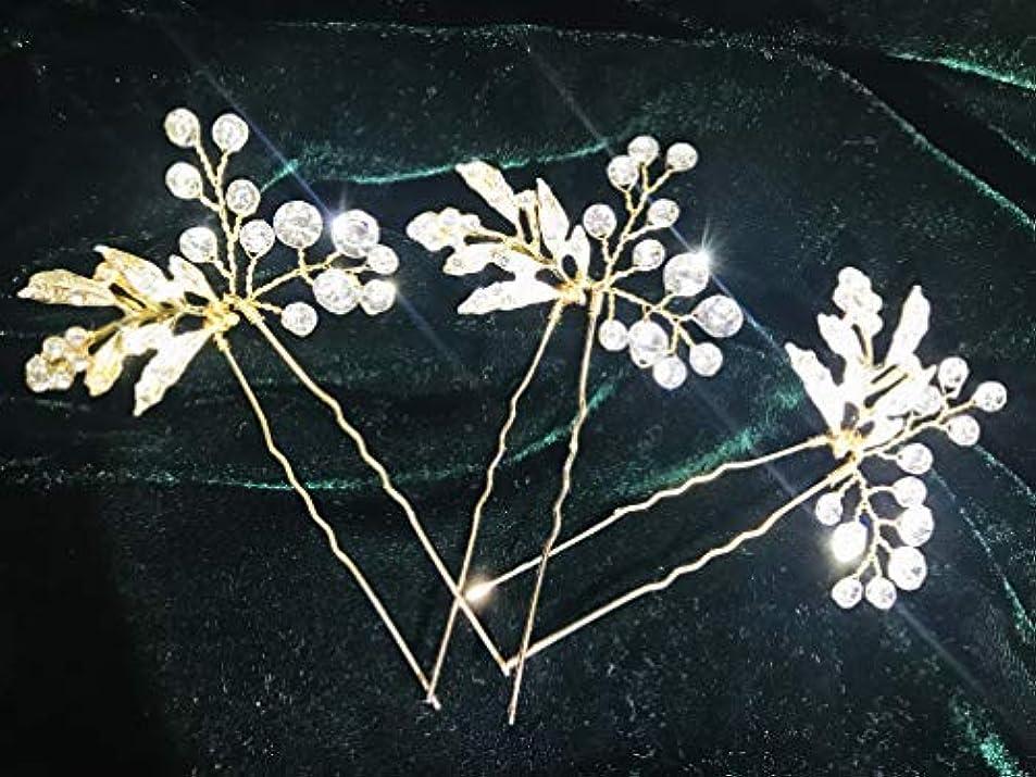 斧当社ベーリング海峡3 pcs Wedding Hair Pin Rhinestones Crystal Vintage Bridal Hair Clips Combs for Brides and Bridesmaids (Style05...
