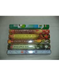 裾Tropical Exotic Incenseセット6 x 20 = 120 Sticksさまざまなギフトパック